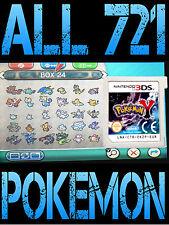 Pokemon Original y con todos los 721 brillante Pokemon todos los artículos Nintendo 3DS/2DS X