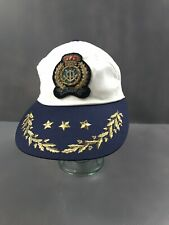 Vintage Pusser's West Indies Nautical Embroidered Patch Hat Blue White Usa S/M