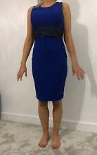 Lipsy Kardashian Kollection Blue Bodycon Dress Size 12