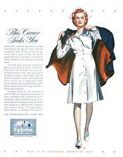 Nurse - This Career Seeks You  -  Upjohn Pharmaceuticals  -  Medical -  1943 Ad