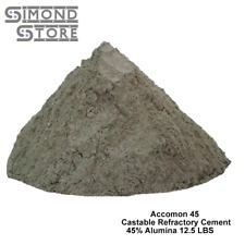 Castable Refractory Cement, 45% Alumina Low Cement Castable, Accomon-45,12.5 LBS
