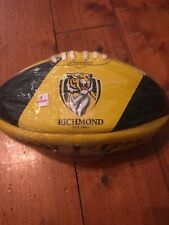 Richmond Tigers Sherrin AFL Rubber Synthetic Football