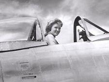 WW2  Photo WWII WASP Female Pilot P-47 Thunderbolt   World War Two /5239