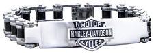 Harley-Davidson Men's Bike Chain ID Bracelet, Stainless Steel HSB0071-8.5