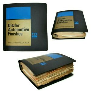 1972-87 Ditzler Automotive Finishes Paint Production Color Book w Many Bulletins