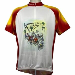 Team Apparel Voler Bicycling Jersey Landmark Riders White & Red Size XL