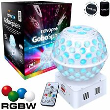 Novopro GoboSphere White Wedding DJ Light RGBW LED Starball Mirrorball & Gobo FX