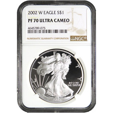 2002-W Proof $1 American Silver Eagle NGC PF70UC Brown Label