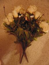 Matte gold/beige silk roses - 2 bunches - from Micheal's store - Polystrene foam