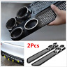 2PCS Auto Car ABS Simulation Grid Double Cylinder Exhaust Pipe Tube Decoration