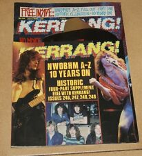 Kerrang uk magazine 246 faith no more + Bon jovi + poison + white lion + king diamond