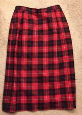 0734e9a8a Pendleton Authentic Cunningham Tartan Red Plaid Wool Skirt Women's Vintage  ...