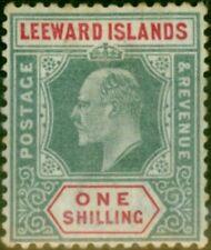 Leeward Islands 1902 1s Green & Carmine SG26 Good Mtd Mint