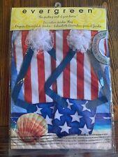 New listing Evergreen Double Sided Patriotic Flip Flops - Garden Flag 12x18