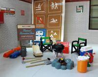 LGB 1:24 Scale VW Bay Split Camper Model Scene Diorama Accessories Set (not van)