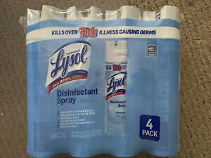 NEW 4 x 19oz disinfectant spray Crisp Linen 76oz