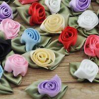 30pc Fancy Satin Ribbon Rose Flower DIY craft/Wedding/Appliques/doll E157