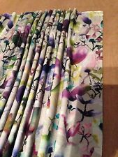 VOYAGE Lucent Indaco tende foderato in velluto MADE TO MEASURE HAND Sewn