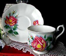 Royal Albert Large Pink Sweetheart Rose Anne Teacup & Saucer Hampton Set