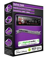 VOLVO S60 Radio DAB , Pioneer de coche USB ENTRADA AUXILIAR Player+ FREE Antena