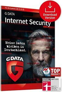 G DATA Internet Security 2021 / 1, 3, 5 PC Geräte / 1 Jahr Vollversion DE