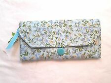 Handmade Wallet/Clutch - Free Shipping -Blue Floral Print 248
