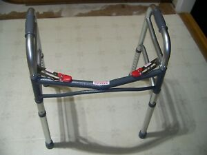 "McKesson Aluminum 25 to 32"" H Junior Folding Walker up to 350 lbs"
