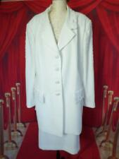 JOHN MEYER of Norwich Ivory Embroidered beaded 2pc skirt suit plus 24W wedding