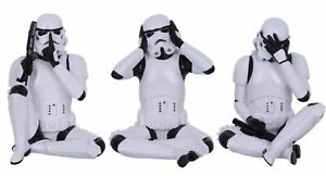 Star Wars Three Wise Stormtroopers Figurines Sitting