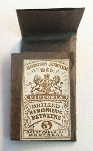 Antique HODGSON SUMNER & CO Victoria Sewing Needle Betweens Montreal 1879-1933