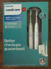 Philips Sonicare 4300 ProtectiveClean Plaque Control HX6809/81 2 Pack FAST SHIP