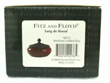 Fitz and Floyd Sang de Boeuf Medium Lidded Box 48/12 Nib Year 2000