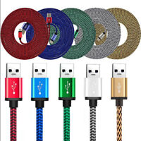 3M/10ft Long Braided Micro USB Data Charging Cable For Android Samsung Galaxy LG