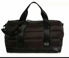 Under Armour Black Overnight Duffle Weekender CarryOn Travel Tote Gym Bag NWT