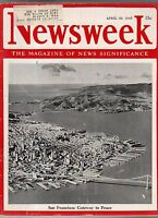 1945 Newsweek April 30-Holocaust discoveries; Charlie Chaplin; Ernie Pyle killed