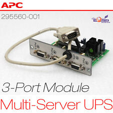 APC USV 3-PORT MULTI-SERVER UPS MODULE R6000 295560-001 124060 3x RS-232 SERIAL
