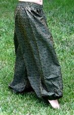 S TRIBAL GYPSY BOHO HIPPIE FUSION BELLY DANCE DANCING HAREM GENIE COSTUME PANTS
