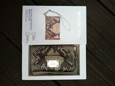 Michael Kors iPhone 4/ 4S Wallet Wristlet Case In Natural Tan python Leather
