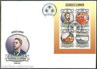 BURUNDI  2013 GEORGES LEMMEN  SHEET  FIRST DAY COVER