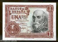1 peseta 1953 Marques de Santa Cruz @@ Sin Circular @@ Ultima peseta de papel