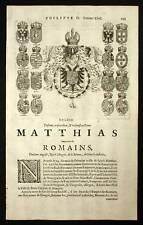 MATTHIAS Ier DU SAINT EMPIRE ROI DE BOHEME et HONGRIE