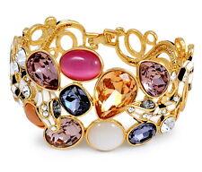 Luxus Armband Schlange Emaille mit Swarovski Kristallen bunt Gold High Quality!