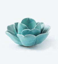 Blue Lotus Candle Holder Tabletop Tealight Meditation Votive Canlestick Lantern