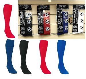 Mens Kids Boys Football Socks Plain Hockey Soccer Rugby Sports School PE Socks