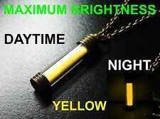 YELLOW Glow In The Dark Necklace / Pendant,Pure Strontium Aluminate! GITD Marker