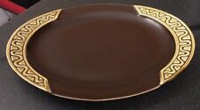 VINTAGE SYLVAC RETRO BROWN WAVY MUSTARD OVAL STEAK / SERVING PLATE