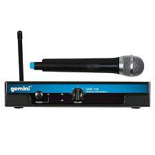 Gemini UHF-116M 16-Channel Wireless Handheld DJ Microphone System