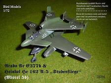 Arado Ar E377b & Heinkel He 162 A-5    1/72 Bird Models Resinbausatz / resin kit