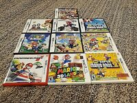 Lot of 10 Nintendo DS 3DS Mario EMPTY Game Case with 6 manuals - no games