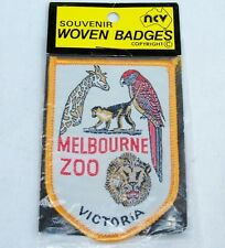 VINTAGE MELBOURNE ZOO VICTORIA EMBROIDERED PATCH SOUVENIR WOVEN SEW CLOTH BADGE